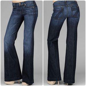 7FAM 7 For All Mankind Women's Dojo Flare-leg jean